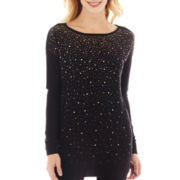 Worthington® Long-Sleeve Embellished Tunic Top - Tall (copy)