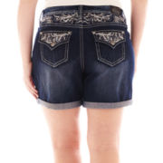 Love Nation Embellished Back-Flap Pocket Shorts - Plus