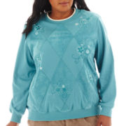 Alfred Dunner® Grand Canyon Patchwork Knit Top - Plus