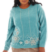 Alfred Dunner® Grand Canyon Long-Sleeve Border Chenille Sweater - Plus
