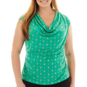 Worthington® Sleeveless Cowlneck Top - Plus
