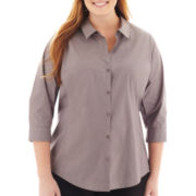 Worthington® 3/4-Sleeve Shirt - Plus