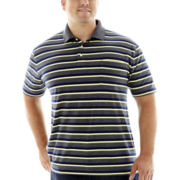 The Foundry Supply Co.™ Striped Jersey Pocket Polo–Big & Tall