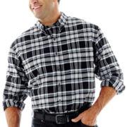 IZOD® Long–Sleeve Stratton Plaid Woven Shirt–Big & Tall