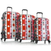 Heys® Sixties Mod 3-pc. Hardside Spinner Upright Luggage Set