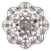 Liz Claiborne® Crystal Floral Pin