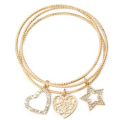 Liz Claiborne® Charm Bangle Set