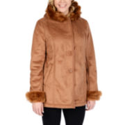 Excelled Hooded Faux-Shearling Jacket