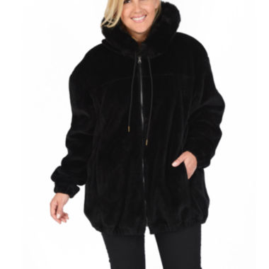 jcpenney.com | Excelled® Reversible Faux-Leather/Faux-Fur Jacket - Plus