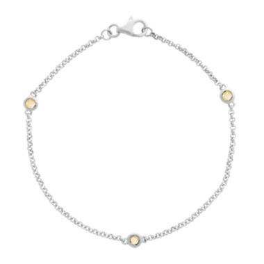 jcpenney.com | Genuine Citrine Sterling Silver Station Bracelet