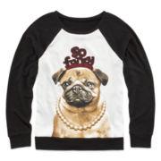 Total Girl® Mixed Media Sweatshirt - Girls 7-16 and Plus