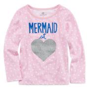 Okie Dokie® Long-Sleeve Graphic Tee - Toddler Girls 2t-5t