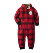 Carter's® Flannel Fleece Jumpsuit - Baby Boys newborn-24m