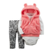 Carter's® Vest, Bodysuit and Leggings - Baby Girls newborn-24m