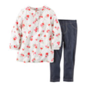 Carter's® Floral Tunic and Jeggings - Baby Girls newborn-24m