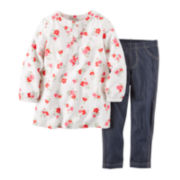 Carter's® Floral Tunic and Jeggings - Toddler Girls 2t-5t