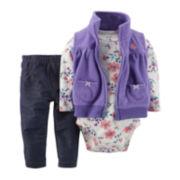 Carter's® 3-pc. Vest Set - Baby Girls newborn-24m