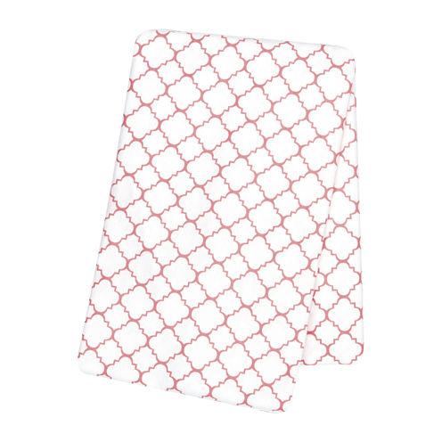 Trend Lab® Coral Quarterfoil Swaddle Blanket