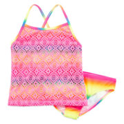 Crochet Rainbow Tankini - Girls 7-16