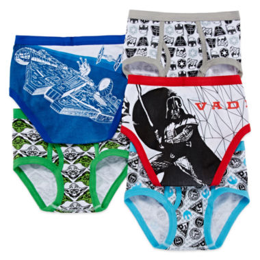 jcpenney.com | Star Wars™ 5-pk. Briefs - Boys 4-8