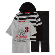 U.S. Polo Assn.® 3-pc. Apparel Set - Preschool Boys 4-7