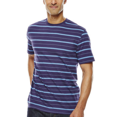 jcpenney.com | Claiborne® Short-Sleeve Striped Crewneck Tee