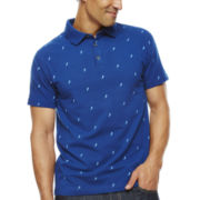 Claiborne® Slim-Fit Fern Print Polo
