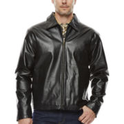 Straight-Bottom Split Nappa Leather Jacket