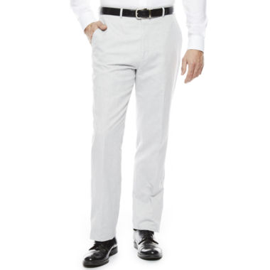 jcpenney.com | Stafford® Light Gray Linen-Cotton Suit Pants - Classic Fit