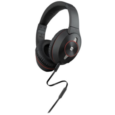 jcpenney.com | iHome™ Black/Gray Headphones with In-Line Microphone