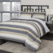 Republic Neutral Stripe Duvet Cover Set