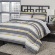 Republic Neutral Stripe Comforter Set