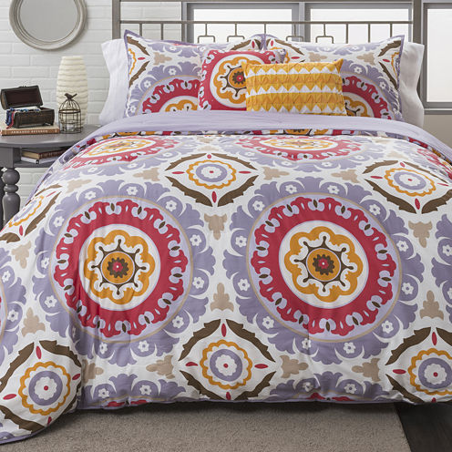 Republic Mackenzie Medallion 4-pc. Duvet Cover Set