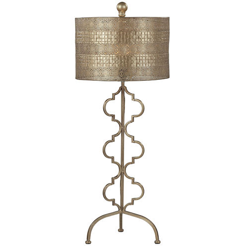 Metal Gold Leaf Table Lamp