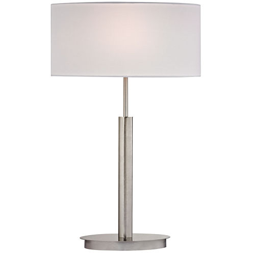 Port Elizabeth Satin Nickel Table Lamp