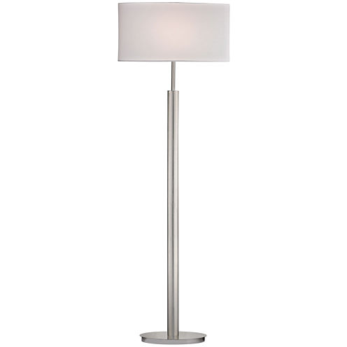 Port Elizabeth Satin Nickel Floor Lamp