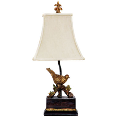 jcpenney.com | Perching Robin Gold Leaf Table Lamp