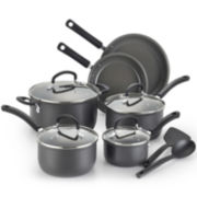 T-fal® Precision 12-pc. Hard-Anodized Ceramic Cookware Set