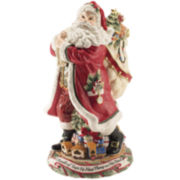 Fitz and Floyd® Night Before Christmas Santa Figurine Vase Tabletop Centerpiece