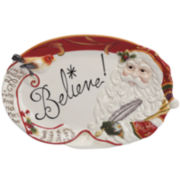 Fitz and Floyd® Regal Holiday Santa Sentiment Serving Platter