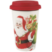 Fitz and Floyd® Letters To Santa Porcelain Travel Mug with Silicone Lid