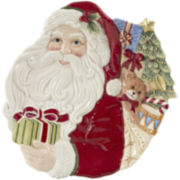 Fitz and Floyd® Night Before Christmas Santa Canapé Plate