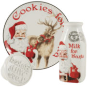 Fitz and Floyd® Letters To Santa 3-pc. Porcelain Cookie Set