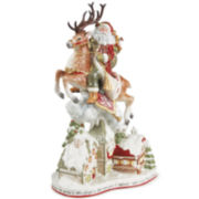 Fitz and Floyd® St. Nick Santa Deer Tabletop Centerpiece