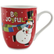 Fitz and Floyd® Be Joyful Snowman Set of 2 Porcelain Mugs