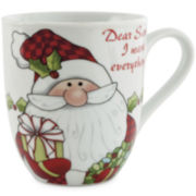 Fitz and Floyd® Dear Santa I Want Everything Set of 2 Porcelain Mugs