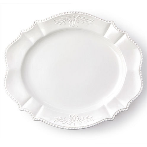 """Le Provence 21"""" French Country Oval Turkey Serving Platter"""