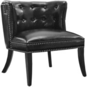 Oren Faux-Leather Tufted Chair