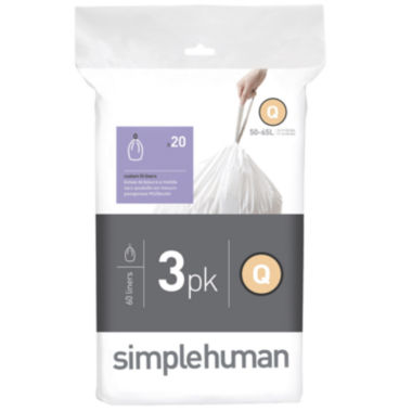 jcpenney.com | simplehuman® Custom-Fit Trash Can Liners Code Q - 60-pack