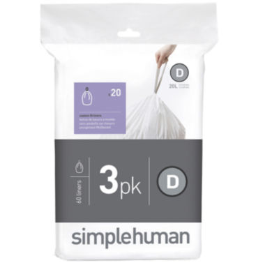 jcpenney.com | simplehuman® Custom-Fit Trash Can Liners Code D - 60-pack
